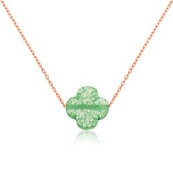 Gumush - Gümüş Yeşil Yonca Kolye