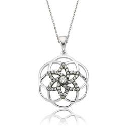 Gumush - Gümüş Yıldız Yaşam Çiçeği Bayan Kolye