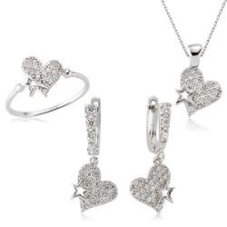 Gumush - Gümüş Kalpli Bayan Set