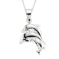 Gumush - Gümüş Yunus Balığı Kolye