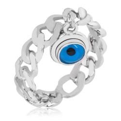 Gumush - Gümüş Zincir Nazar Göz Bayan Yüzük