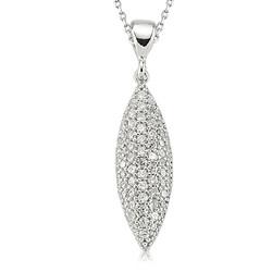 Gumush - Gümüş Beyaz Taşlı Bayan Kolye
