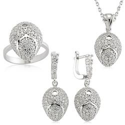 Gumush - Gümüş Çok Taşlı Bayan Set