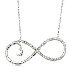 Gumush - Gümüş Sonsuzluk Kalp Bayan Kolye