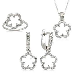 Gumush - Gümüş Çiçek Bayan Set