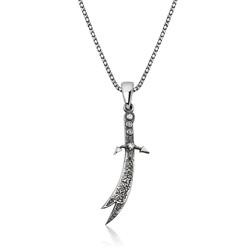 Gumush - Gümüş Zülfikar Kılıcı Erkek Kolye