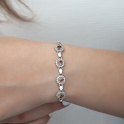 Gümüş Zultanit Taşlı Bileklik - Thumbnail