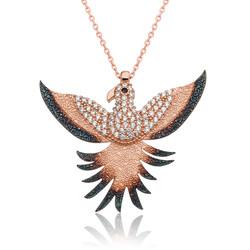Gumush - Gümüş Zümrüdü Anka Kuşu Kolye