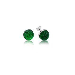 Gumush - Gümüş Yeşil Kristal Çivili Küpe (1)