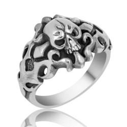 Gumush - Gümüş Kuru Kafa Erkek Yüzük