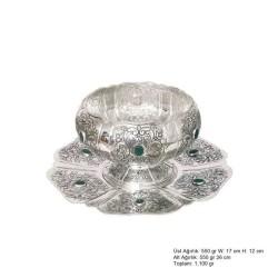 Gumush - Lale Desenli Gümüş Boller