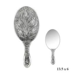 Gumush - Lale Motifli El Aynası