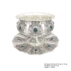 Gumush - Lale Motifli Gümüş Boller