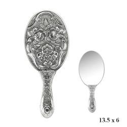Gumush - Manolya Motifli Gümüş El Aynası
