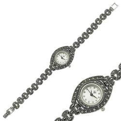 Gumush - Markazit Taşlı Gümüş Saat