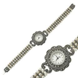 Gumush - Gümüş Markazit Taşlı Bayan Saat