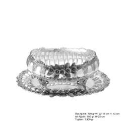 Gumush - Orkide Desenli Gümüş Boller