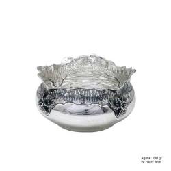Gumush - Orkide Desenli Gümüş Şekerlik