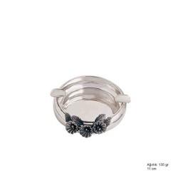 Gumush - Orkide Motifli Gümüş Küllük
