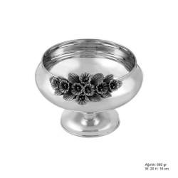 Gumush - Orkide Motifli Gümüş Şekerlik