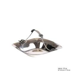 Gumush - Orkide Motifli Gümüş Sepet