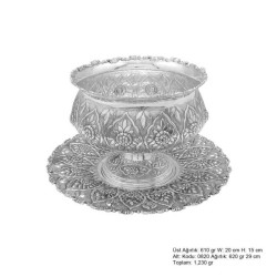 Gumush - Papatya Desenli Gümüş Boller