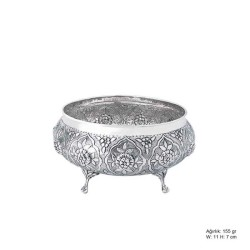 Gumush - Papatya Desenli Gümüş Şekerlik