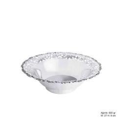 Gumush - Papatya Motifli Gümüş Meyvelik