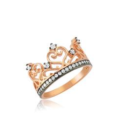 Gumush - Gümüş Kraliçe Tacı Bayan Yüzük