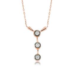 Gumush - Gümüş 3 Taş Tria Bayan Kolye