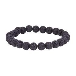 Gumush - Siyah Lav Taşı Erkek Bileklik