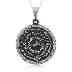 Gumush - Gümüş Yuvarlak Taşlı Kıtmir Bayan Kolye