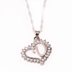Gumush - Gümüş U Harfi Kalpli Bayan Kolye