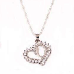 Gumush - Gümüş Ü Harf Kalpli Bayan Kolye