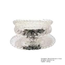 Gumush - Yaprak Motifli Gümüş Boller