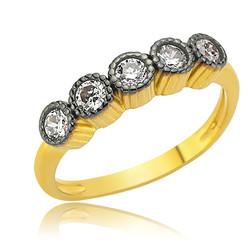 Gumush - Gümüş 5 Taş Bayan Yüzük