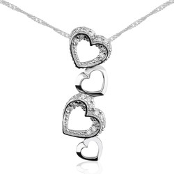 Gumush - Gümüş Kalpler Bayan Kolye