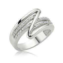 Gumush - Gümüş Zigzag Bayan Yüzük