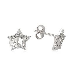 Gumush - Gümüş Çivili Yıldız Küpe
