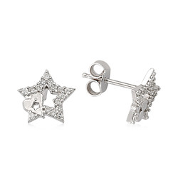 Gumush - Gümüş Çivili Yıldız Küpe (1)