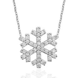 Gumush - Gümüş Kar Tanesi Bayan Kolye