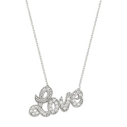 Gumush - Gümüş Love Yazılı Bayan Kolye