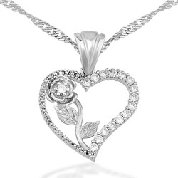 Gumush - Gümüş Kalbimin Gülü Bayan Kolye