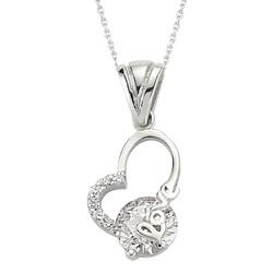 Gumush - Gümüş Love Yazılı Bayan Kalp Kolye