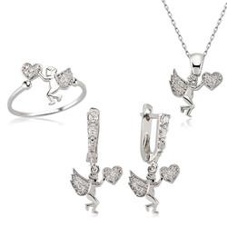 Gumush - Gümüş Kalpli Melek Bayan Set
