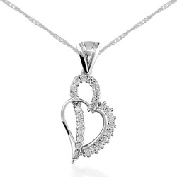 Gumush - Gümüş Kalpli Bayan Kolye