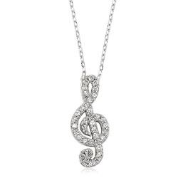 Gumush - Gümüş Sol Anahtarı Bayan Kolye