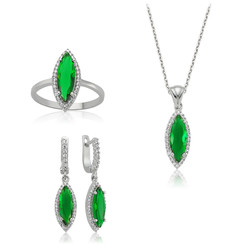 Gumush - Gümüş Yeşil Mekik Bayan Set