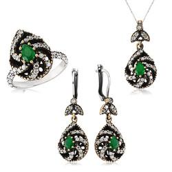 Gumush - Gümüş Yeşil Otantik Bayan Set